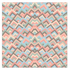Trendy Chic Modern Chevron Pattern Large Satin Scarf (Square)