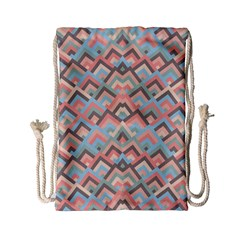 Trendy Chic Modern Chevron Pattern Drawstring Bag (Small)
