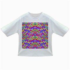 Colorful Trendy Chic Modern Chevron Pattern Infant/Toddler T-Shirts