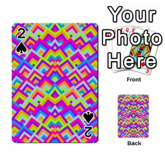 Colorful Trendy Chic Modern Chevron Pattern Playing Cards 54 Designs