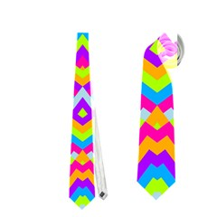 Colorful Trendy Chic Modern Chevron Pattern Neckties (two Side)
