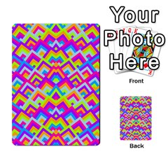 Colorful Trendy Chic Modern Chevron Pattern Multi-purpose Cards (Rectangle)