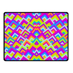 Colorful Trendy Chic Modern Chevron Pattern Fleece Blanket (Small)
