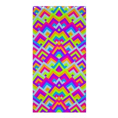 Colorful Trendy Chic Modern Chevron Pattern Shower Curtain 36  x 72  (Stall)