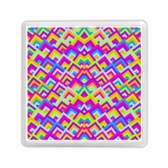 Colorful Trendy Chic Modern Chevron Pattern Memory Card Reader (Square)