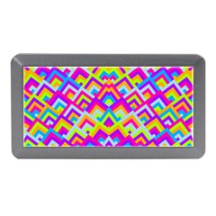 Colorful Trendy Chic Modern Chevron Pattern Memory Card Reader (mini)