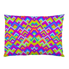 Colorful Trendy Chic Modern Chevron Pattern Pillow Cases (Two Sides)