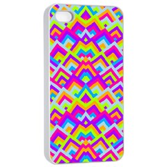 Colorful Trendy Chic Modern Chevron Pattern Apple Iphone 4/4s Seamless Case (white)