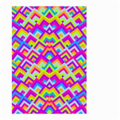 Colorful Trendy Chic Modern Chevron Pattern Small Garden Flag (Two Sides)