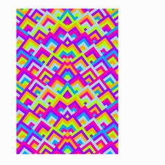 Colorful Trendy Chic Modern Chevron Pattern Large Garden Flag (Two Sides)