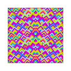 Colorful Trendy Chic Modern Chevron Pattern Acrylic Tangram Puzzle (6  x 6 )