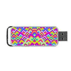 Colorful Trendy Chic Modern Chevron Pattern Portable USB Flash (Two Sides)