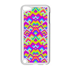 Colorful Trendy Chic Modern Chevron Pattern Apple Ipod Touch 5 Case (white)