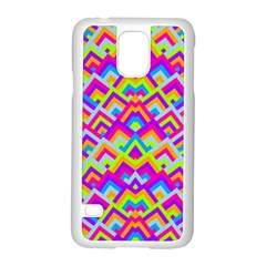 Colorful Trendy Chic Modern Chevron Pattern Samsung Galaxy S5 Case (white)