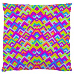 Colorful Trendy Chic Modern Chevron Pattern Large Flano Cushion Cases (two Sides)