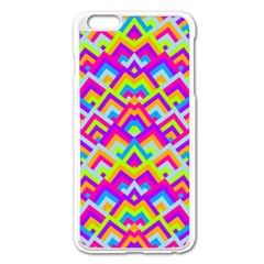 Colorful Trendy Chic Modern Chevron Pattern Apple Iphone 6 Plus Enamel White Case