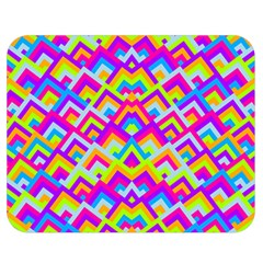 Colorful Trendy Chic Modern Chevron Pattern Double Sided Flano Blanket (Medium)