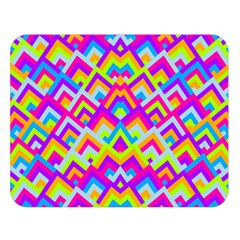 Colorful Trendy Chic Modern Chevron Pattern Double Sided Flano Blanket (Large)