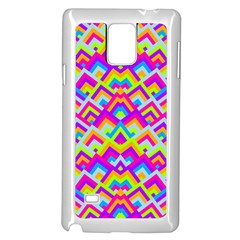 Colorful Trendy Chic Modern Chevron Pattern Samsung Galaxy Note 4 Case (White)