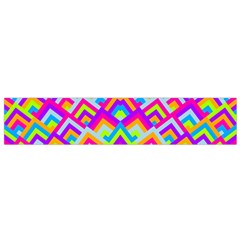 Colorful Trendy Chic Modern Chevron Pattern Flano Scarf (small)