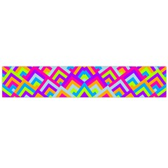 Colorful Trendy Chic Modern Chevron Pattern Flano Scarf (Large)