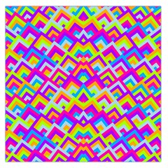Colorful Trendy Chic Modern Chevron Pattern Large Satin Scarf (Square)