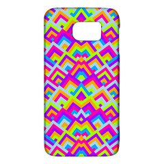 Colorful Trendy Chic Modern Chevron Pattern Galaxy S6
