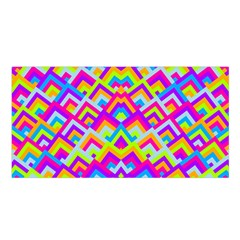 Colorful Trendy Chic Modern Chevron Pattern Satin Shawl