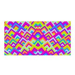 Colorful Trendy Chic Modern Chevron Pattern Satin Wrap