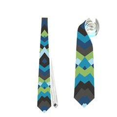Trendy Chic Modern Chevron Pattern Neckties (one Side)
