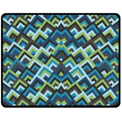 Trendy Chic Modern Chevron Pattern Fleece Blanket (medium)