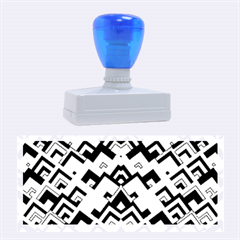 Trendy Chic Modern Chevron Pattern Rubber Stamps (Large)