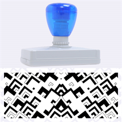 Trendy Chic Modern Chevron Pattern Rubber Address Stamps (xl)