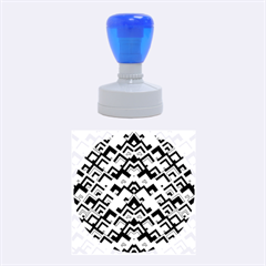 Trendy Chic Modern Chevron Pattern Rubber Round Stamps (Medium)