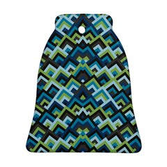 Trendy Chic Modern Chevron Pattern Ornament (bell)