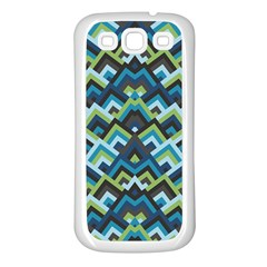 Trendy Chic Modern Chevron Pattern Samsung Galaxy S3 Back Case (white)