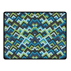 Trendy Chic Modern Chevron Pattern Double Sided Fleece Blanket (small)