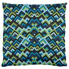 Trendy Chic Modern Chevron Pattern Standard Flano Cushion Cases (one Side)