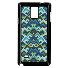 Trendy Chic Modern Chevron Pattern Samsung Galaxy Note 4 Case (Black)