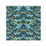 Trendy Chic Modern Chevron Pattern Small Satin Scarf (Square)  Front