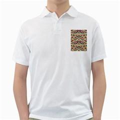 Trendy Chic Modern Chevron Pattern Golf Shirts