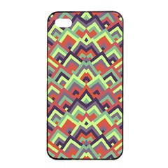 Trendy Chic Modern Chevron Pattern Apple iPhone 4/4s Seamless Case (Black)