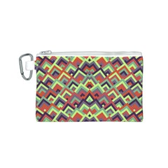 Trendy Chic Modern Chevron Pattern Canvas Cosmetic Bag (s)