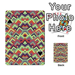 Trendy Chic Modern Chevron Pattern Playing Cards 54 Designs