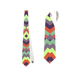 Trendy Chic Modern Chevron Pattern Neckties (two Side)