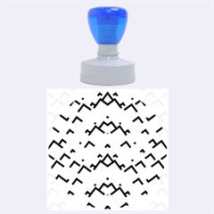 Trendy Chic Modern Chevron Pattern Rubber Round Stamps (large)