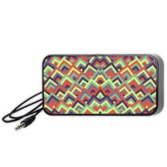 Trendy Chic Modern Chevron Pattern Portable Speaker (Black)