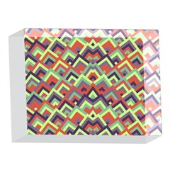Trendy Chic Modern Chevron Pattern 5 x 7  Acrylic Photo Blocks