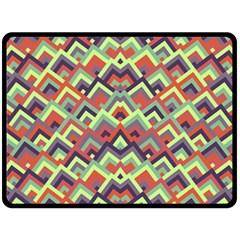 Trendy Chic Modern Chevron Pattern Double Sided Fleece Blanket (Large)