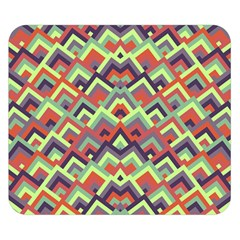 Trendy Chic Modern Chevron Pattern Double Sided Flano Blanket (Small)